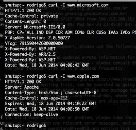 Simples comando para descobrir qual o servidor web de um determinado site – identificação se é lighthttpd, apache, nginx ou IIS