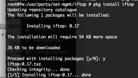 Comando IFTOP equivalente ao tcptrack no FreeBSD 11.0 – CURRENT para monitoramento de tráfego da rede